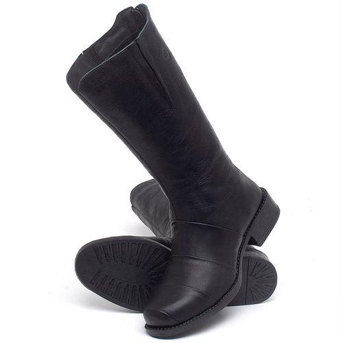 Laranja_Lima_Shoes_Sapatos_Femininos_Bota_Cano_Medio_Salto_de_3_cm_em_Couro_Preto_-_Codigo_-_141138_2