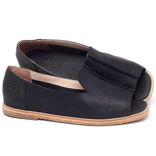Laranja_Lima_Shoes_Sapatos_Femininos_Sandalia_Rasteira_Flat_em_Couro_Preto_-_Codigo_-_3713_1