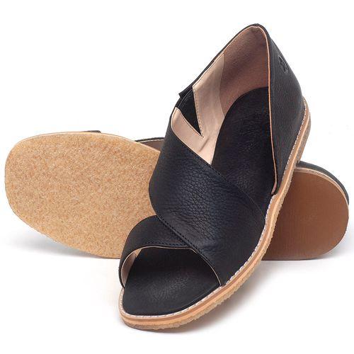 Laranja_Lima_Shoes_Sapatos_Femininos_Sandalia_Rasteira_Flat_em_Couro_Preto_-_Codigo_-_3714_2