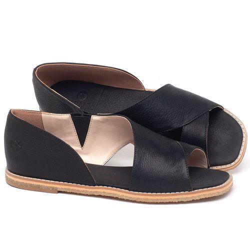 Laranja_Lima_Shoes_Sapatos_Femininos_Sandalia_Rasteira_Flat_em_Couro_Preto_-_Codigo_-_3714_1