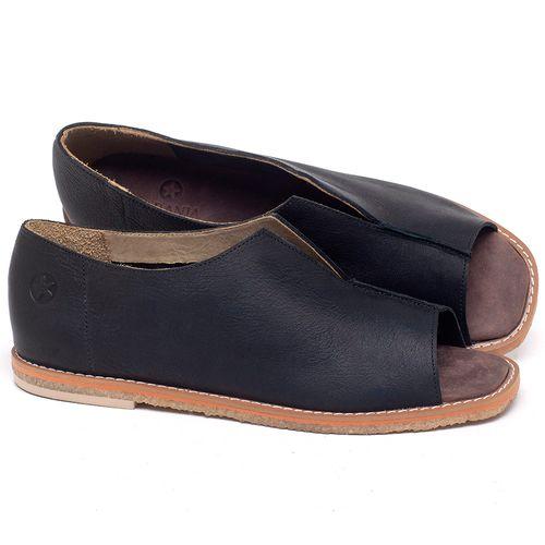 Laranja_Lima_Shoes_Sapatos_Femininos_Sandalia_Rasteira_Flat_em_Couro_Preto_-_Codigo_-_3719_1