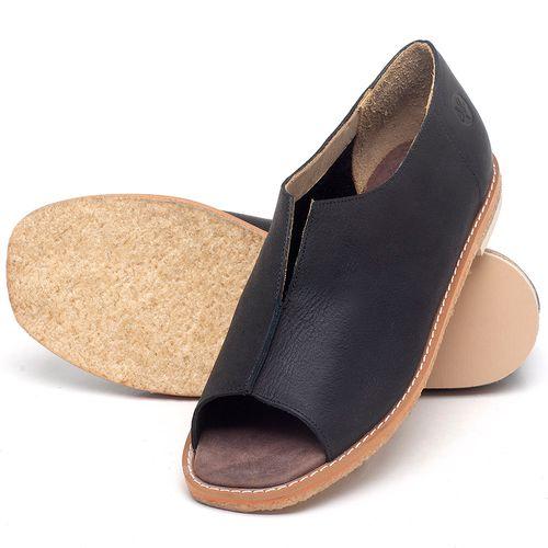 Laranja_Lima_Shoes_Sapatos_Femininos_Sandalia_Rasteira_Flat_em_Couro_Preto_-_Codigo_-_3719_2
