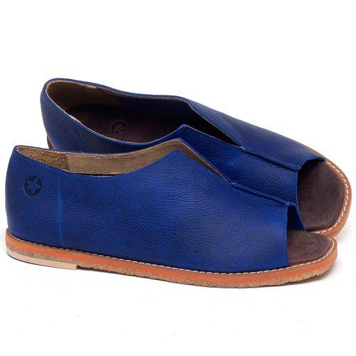 Laranja_Lima_Shoes_Sapatos_Femininos_Sandalia_Rasteira_Flat_em_Couro_Azul_-_Codigo_-_3719_1