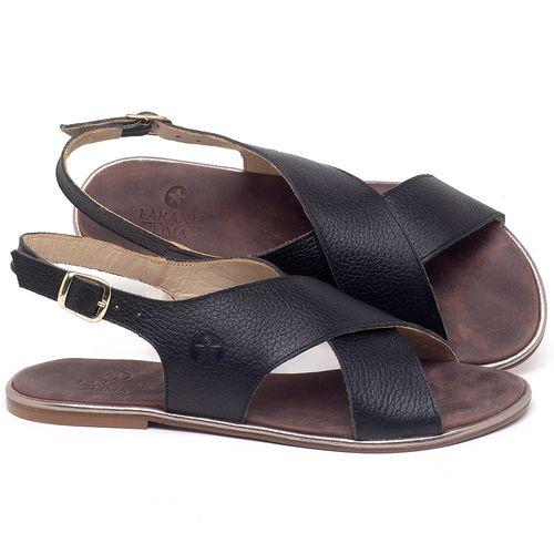 Laranja_Lima_Shoes_Sapatos_Femininos_Sandalia_Rasteira_Flat_em_Couro_Preto_-_Codigo_-_3728_1