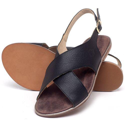 Laranja_Lima_Shoes_Sapatos_Femininos_Sandalia_Rasteira_Flat_em_Couro_Preto_-_Codigo_-_3728_2