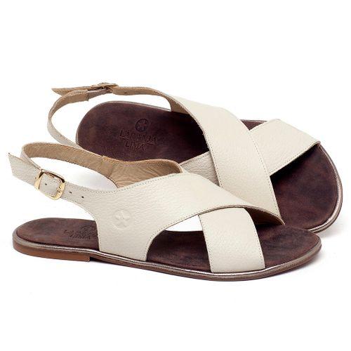 Laranja_Lima_Shoes_Sapatos_Femininos_Sandalia_Rasteira_Flat_em_Couro_Off-White_-_Codigo_-_3728_1