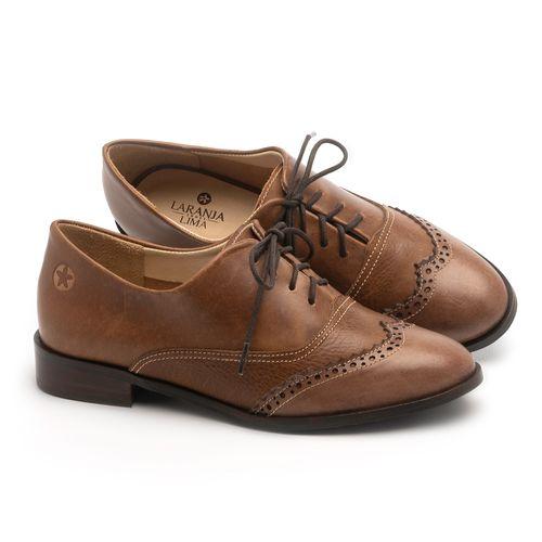 Laranja_Lima_Shoes_Sapatos_Femininos_Oxford_Laranja_Lima_Shoes_Salto_de_2_cm_em_Couro_Marrom_-_Codigo_-_9468_1