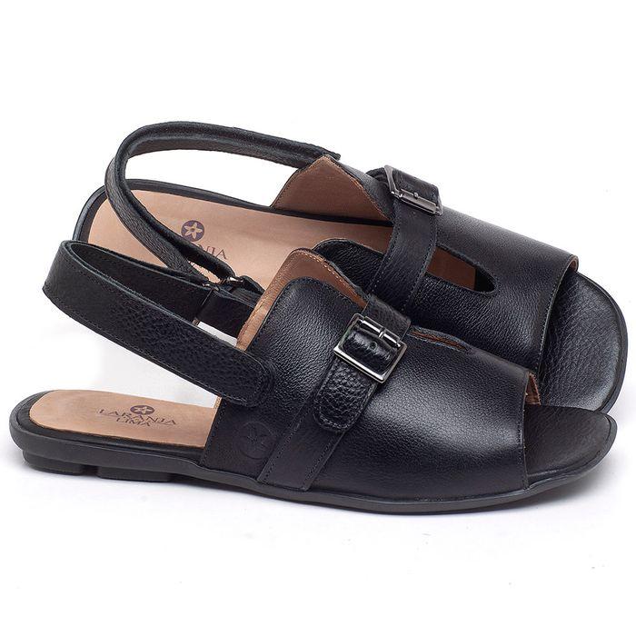 Laranja_Lima_Shoes_Sapatos_Femininos_Sandalia_Rasteira_Flat_em_Couro_Preto_-_Codigo_-_9477_1