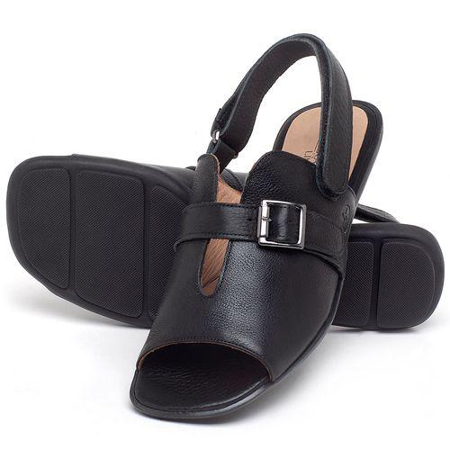 Laranja_Lima_Shoes_Sapatos_Femininos_Sandalia_Rasteira_Flat_em_Couro_Preto_-_Codigo_-_9477_2