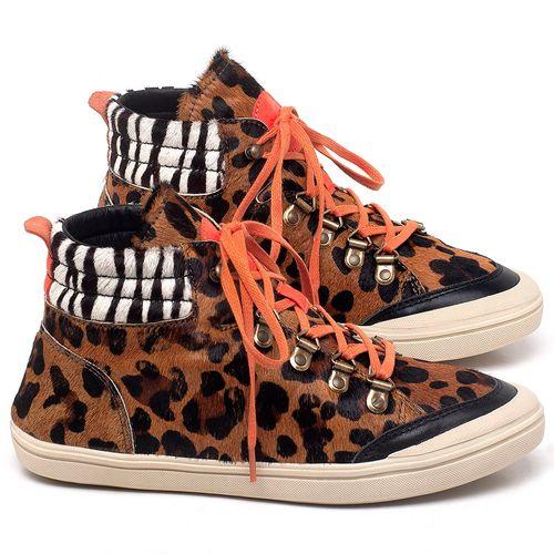 Laranja_Lima_Shoes_Sapatos_Femininos_Tenis_Cano_Alto_em_Couro_Onca_-_Codigo_-_56205_1