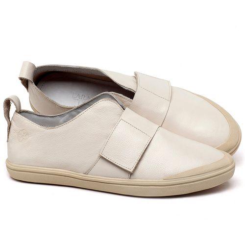 Laranja_Lima_Shoes_Sapatos_Femininos_Tenis_Cano_Baixo_em_Couro_Off-White_-_Codigo_-_56206_1