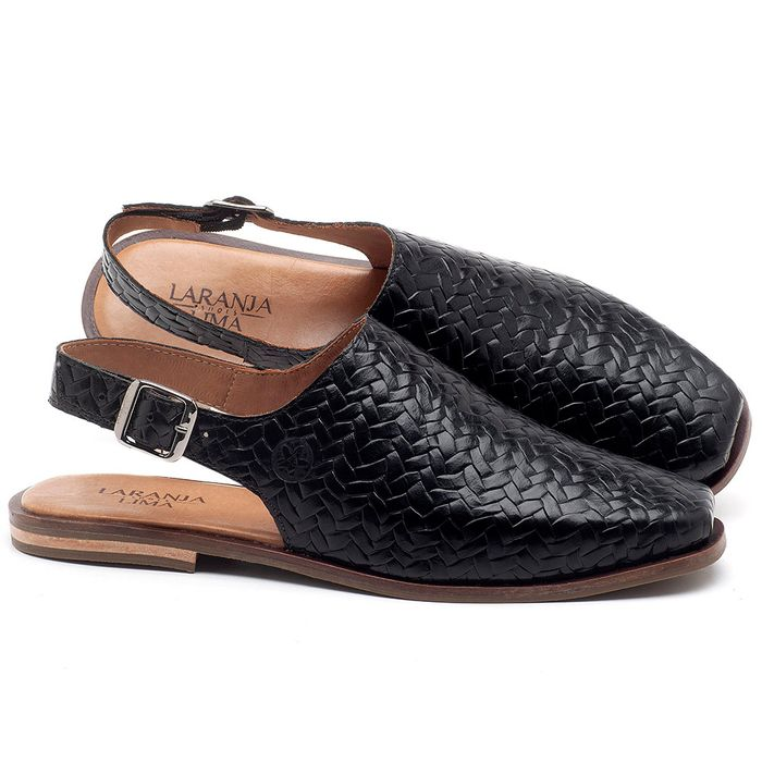 Laranja_Lima_Shoes_Sapatos_Femininos_Sapatilha_Bico_Quadrado_em_Couro_Preto_-_Codigo_-_136085_1