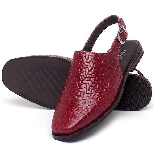 Laranja_Lima_Shoes_Sapatos_Femininos_Sapatilha_Bico_Quadrado_em_Couro_Vermelho_-_Codigo_-_136085_2