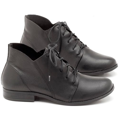 Laranja_Lima_Shoes_Sapatos_Femininos_Bota_Cano_Curto_em_Couro_Preto_-_Codigo_-_137109_1