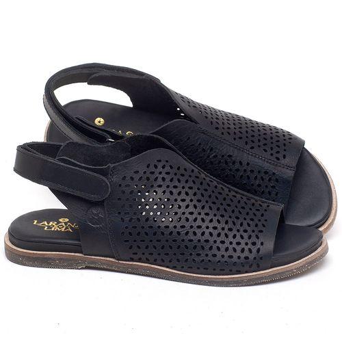 Laranja_Lima_Shoes_Sapatos_Femininos_Sandalia_Rasteira_Flat_em_Couro_Preto_-_Codigo_-_137286_1