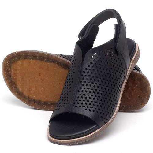 Laranja_Lima_Shoes_Sapatos_Femininos_Sandalia_Rasteira_Flat_em_Couro_Preto_-_Codigo_-_137286_2