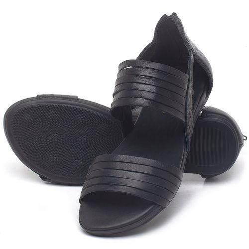 Laranja_Lima_Shoes_Sapatos_Femininos_Sandalia_Rasteira_Flat_em_Couro_Preto_-_Codigo_-_137290_2