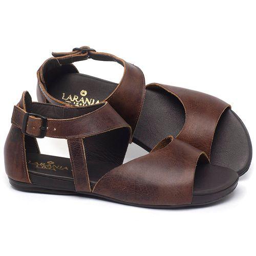 Laranja_Lima_Shoes_Sapatos_Femininos_Sandalia_Rasteira_Flat_em_Couro_Marrom_-_Codigo_-_137296_1