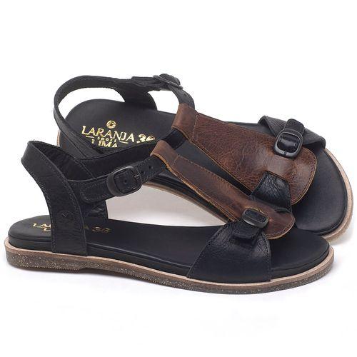 Laranja_Lima_Shoes_Sapatos_Femininos_Sandalia_Rasteira_Flat_em_Couro_Preto_-_Codigo_-_137298_1