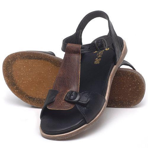 Laranja_Lima_Shoes_Sapatos_Femininos_Sandalia_Rasteira_Flat_em_Couro_Preto_-_Codigo_-_137298_2