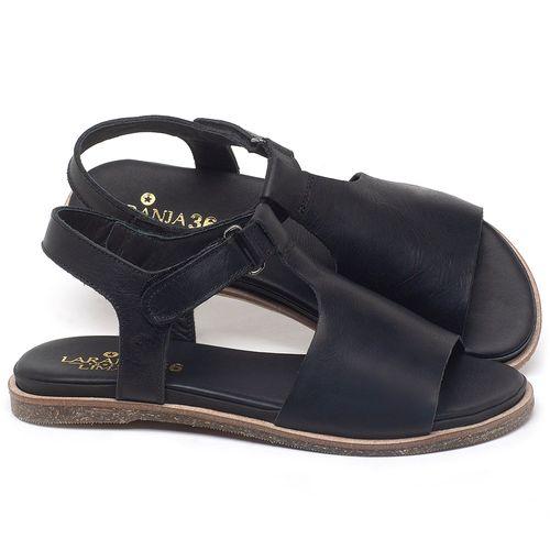 Laranja_Lima_Shoes_Sapatos_Femininos_Sandalia_Rasteira_Flat_em_Couro_Preto_-_Codigo_-_137302_1