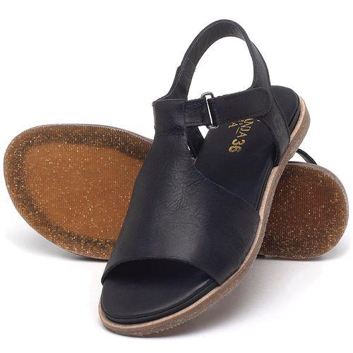 Laranja_Lima_Shoes_Sapatos_Femininos_Sandalia_Rasteira_Flat_em_Couro_Preto_-_Codigo_-_137302_2