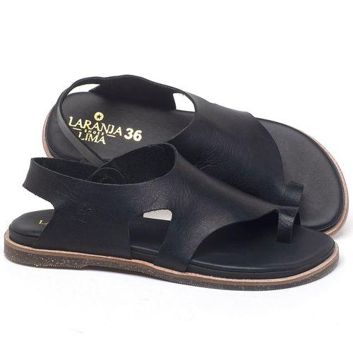 Laranja_Lima_Shoes_Sapatos_Femininos_Sandalia_Rasteira_Flat_em_Couro_Preto_-_Codigo_-_137303_1