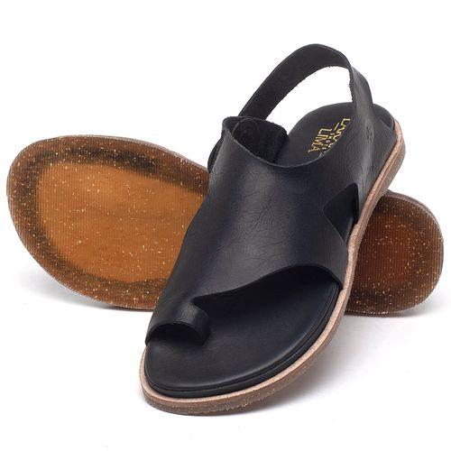 Laranja_Lima_Shoes_Sapatos_Femininos_Sandalia_Rasteira_Flat_em_Couro_Preto_-_Codigo_-_137303_2