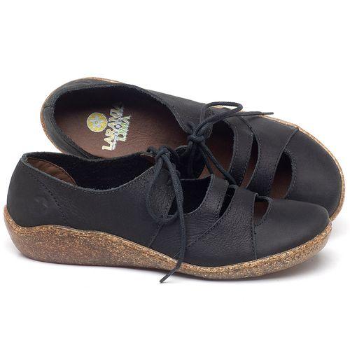 Laranja_Lima_Shoes_Sapatos_Femininos_Sandalia_Rasteira_Flat_em_Couro_Preto_-_Codigo_-_139034_1