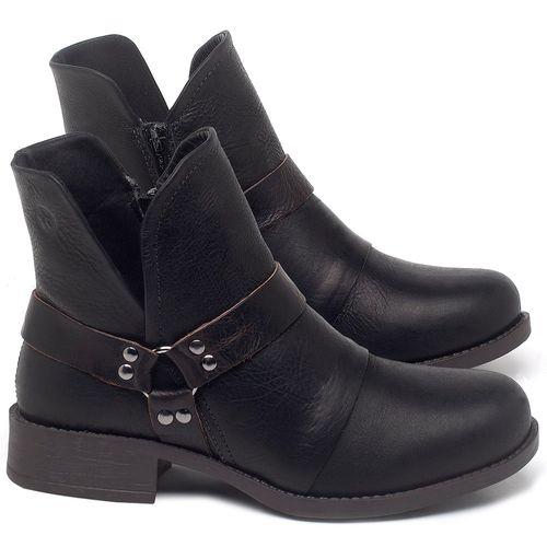 Laranja_Lima_Shoes_Sapatos_Femininos_Bota_Cano_Curto_Salto_de_3_cm_em_Couro_Preto_-_Codigo_-_141139_1