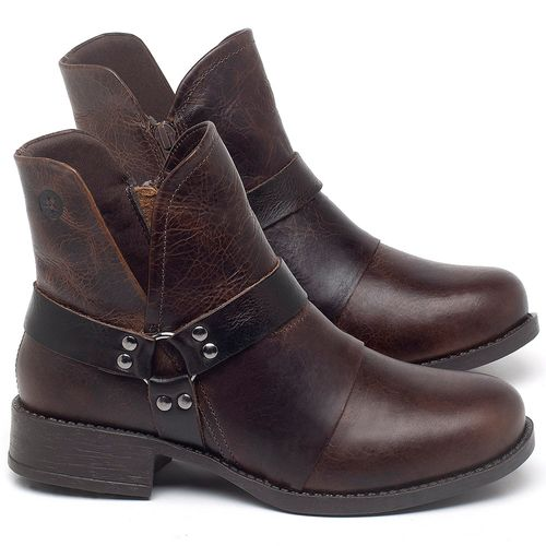 Laranja_Lima_Shoes_Sapatos_Femininos_Bota_Cano_Curto_Salto_de_3_cm_em_Couro_Marrom_-_Codigo_-_141139_1