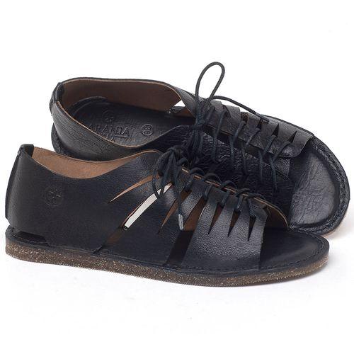 Laranja_Lima_Shoes_Sapatos_Femininos_Sandalia_Rasteira_Flat_em_Couro_Preto_-_Codigo_-_141153_1