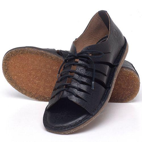 Laranja_Lima_Shoes_Sapatos_Femininos_Sandalia_Rasteira_Flat_em_Couro_Preto_-_Codigo_-_141153_2