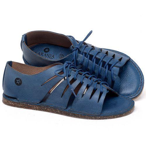 Laranja_Lima_Shoes_Sapatos_Femininos_Sandalia_Rasteira_Flat_em_Couro_Azul_-_Codigo_-_141153_1