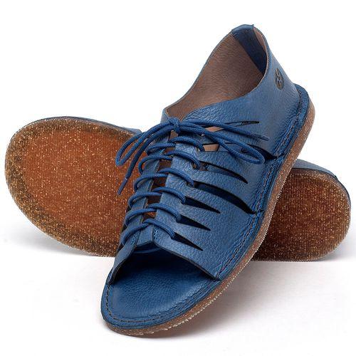 Laranja_Lima_Shoes_Sapatos_Femininos_Sandalia_Rasteira_Flat_em_Couro_Azul_-_Codigo_-_141153_2