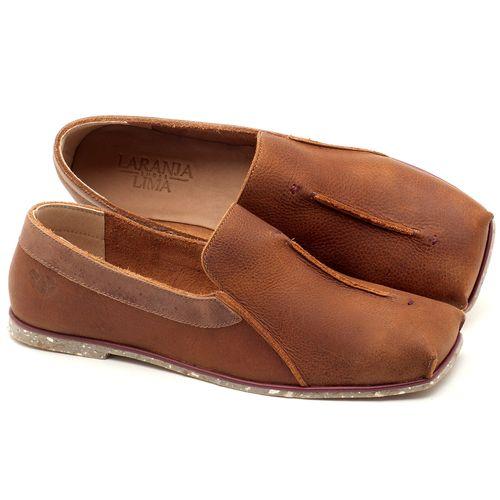 Laranja_Lima_Shoes_Sapatos_Femininos_Sapatilha_Bico_Quadrado_em_Couro_Caramelo_-_Codigo_-_145003_1