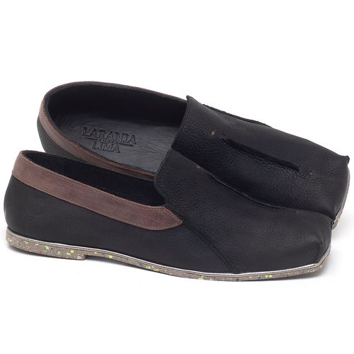 Laranja_Lima_Shoes_Sapatos_Femininos_Sapatilha_Bico_Quadrado_em_Couro_Preto_-_Codigo_-_145003_1