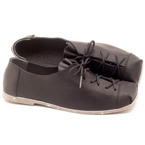 Laranja_Lima_Shoes_Sapatos_Femininos_Sapatilha_Bico_Quadrado_em_Couro_Preto_-_Codigo_-_145010_1