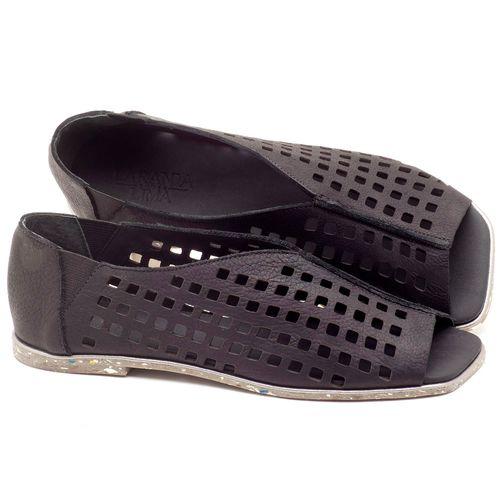 Laranja_Lima_Shoes_Sapatos_Femininos_Sandalia_Rasteira_Flat_em_Couro_Preto_-_Codigo_-_145016_1