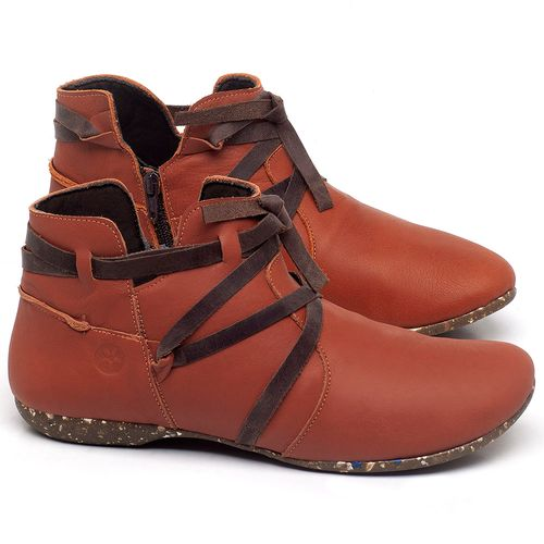 Laranja_Lima_Shoes_Sapatos_Femininos_Flat_Boot_em_Couro_Laranja_-_Codigo_-_148022_1