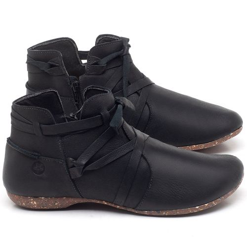 Laranja_Lima_Shoes_Sapatos_Femininos_Flat_Boot_em_Couro_Preto_-_Codigo_-_148022_1