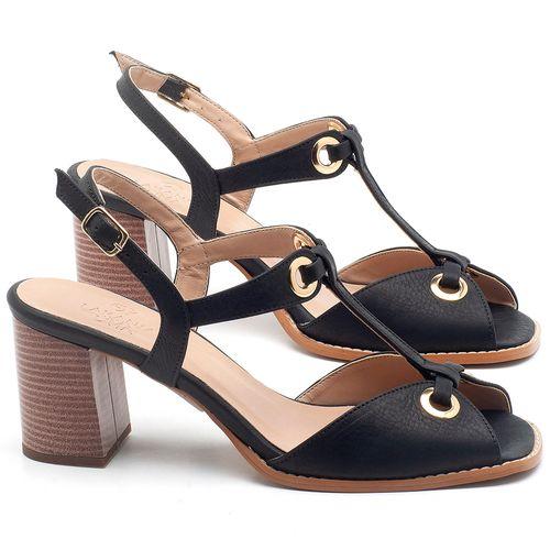 Laranja_Lima_Shoes_Sapatos_Femininos_Sandalia_Laranja_Lima_Shoes_Classic_Salto_de_6_cm_em_Couro_Preto_-_Codigo_-_3660_1