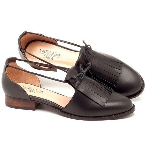 Laranja_Lima_Shoes_Sapatos_Femininos_Oxford_Laranja_Lima_Shoes_Salto_de_2_cm_em_Couro_Preto_-_Codigo_-_9433_1