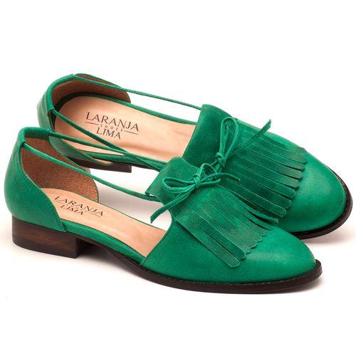 Laranja_Lima_Shoes_Sapatos_Femininos_Oxford_Laranja_Lima_Shoes_Salto_de_2_cm_em_Couro_Verde_-_Codigo_-_9433_1