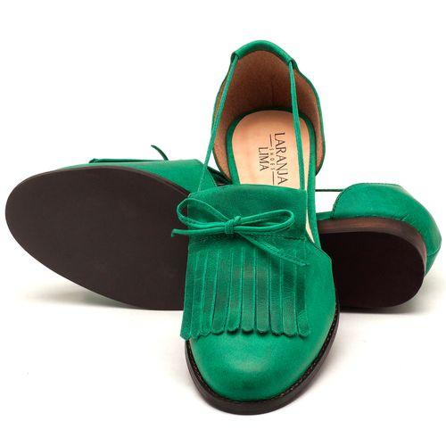 Laranja_Lima_Shoes_Sapatos_Femininos_Oxford_Laranja_Lima_Shoes_Salto_de_2_cm_em_Couro_Verde_-_Codigo_-_9433_2