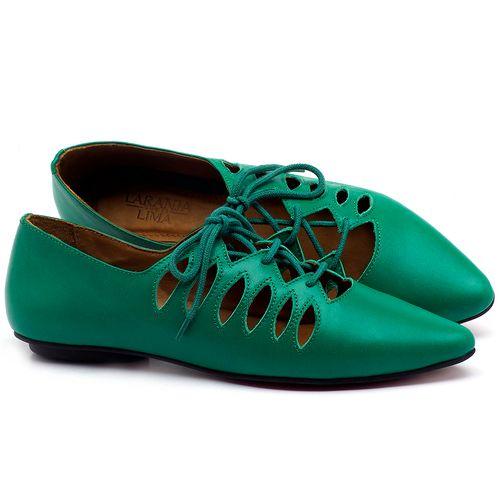 Laranja_Lima_Shoes_Sapatos_Femininos_Sapatilha_Bico_Fino_em_Couro_Verde_-_Codigo_-_56031_1