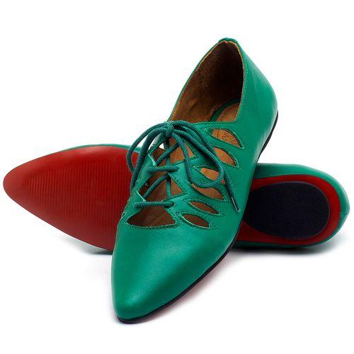 Laranja_Lima_Shoes_Sapatos_Femininos_Sapatilha_Bico_Fino_em_Couro_Verde_-_Codigo_-_56031_2