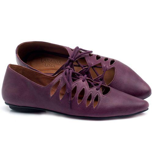 Laranja_Lima_Shoes_Sapatos_Femininos_Sapatilha_Bico_Fino_em_Couro_Roxo_-_Codigo_-_56031_1