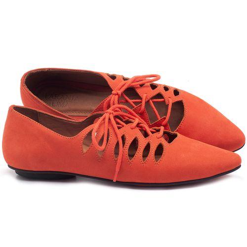 Laranja_Lima_Shoes_Sapatos_Femininos_Sapatilha_Bico_Fino_em_Couro_Laranja_-_Codigo_-_56031_1