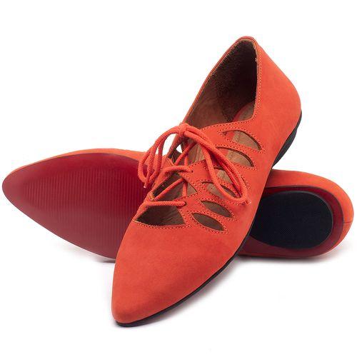 Laranja_Lima_Shoes_Sapatos_Femininos_Sapatilha_Bico_Fino_em_Couro_Laranja_-_Codigo_-_56031_2